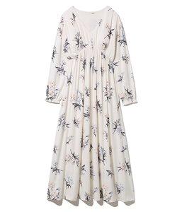 中花柄ドレス