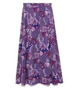 ヴィンテージサテンプリントスカート