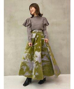 シャンブレーフロッキースカート