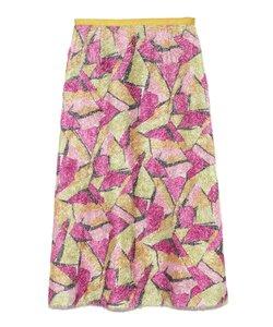 カラーブロックスカート