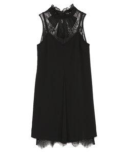 レースレイヤード風ドレス