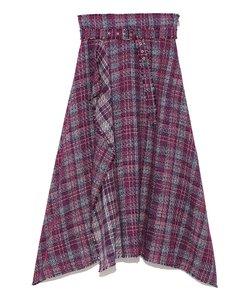 ツイードヘムラインスカート