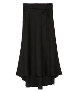 サテンロングテールスカート