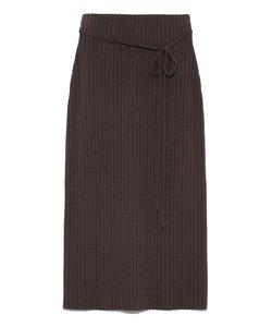 ワイドリブニットタイトスカート