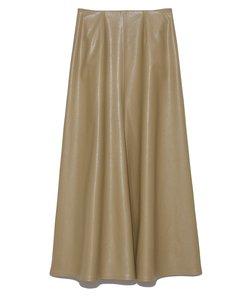 レザーライクナローフレアスカート