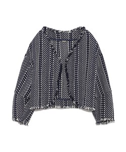 【emmi atelier】フリンジジャガードジャケット