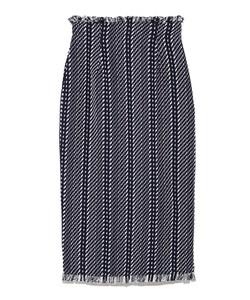 【emmi atelier】フリンジジャガードタイトスカート