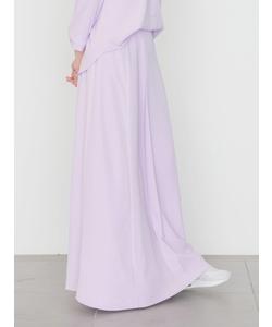 【emmi atelier】アセポリロングフレアスカート
