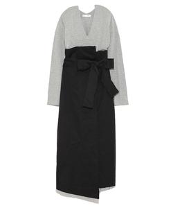 【emmi atelier】布帛スカート付きコンビワンピース