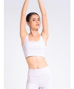 【emmi yoga】エンボスレースアップブラトップ