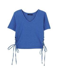 サイドレースアップフィットTシャツ