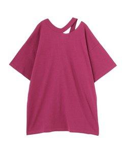 スリットネックボーイズTシャツ