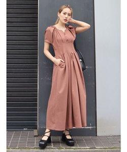 シェイプラインロングドレス
