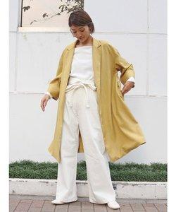 カラーミドル丈コート