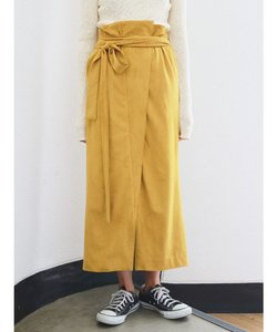 フェイクスウェードラップスカート