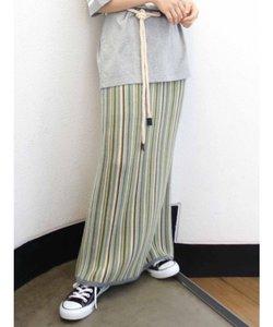ストライプニットスカート