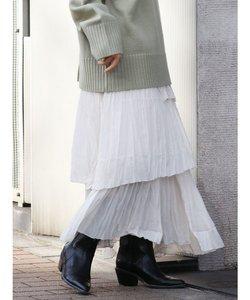 シワプリ-ツデザインスカート