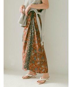 エスニックフラワーデザインスカート