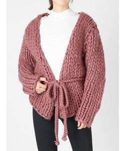 hand knittingバルキーカーディガン