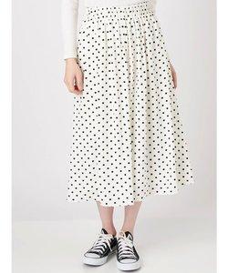 【WOMEN】ドット柄スカート