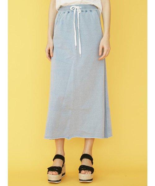 インディゴ裏毛スカート