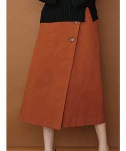 ツイルラップ風スカート