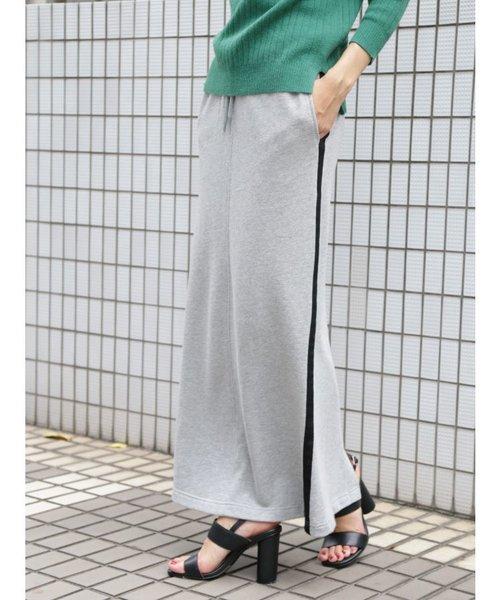 裏毛ラインタイトスカート