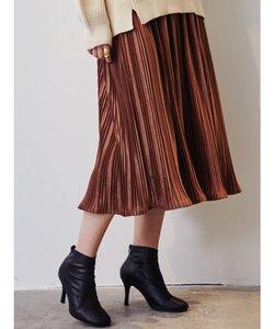 スエードタッチプリーツスカート