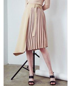 サイドプリーツ裾アシメスカート