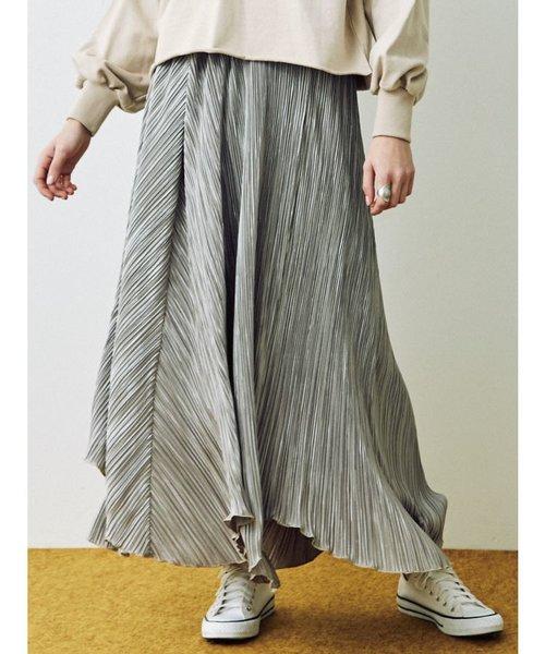 カットプリーツロングスカート