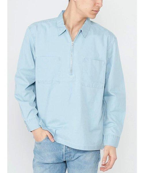 【MEN】ハーフZIPシャツ
