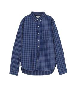 【MEN】インディゴチェックBDシャツ