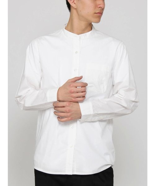 タイプライターバンドカラーシャツ