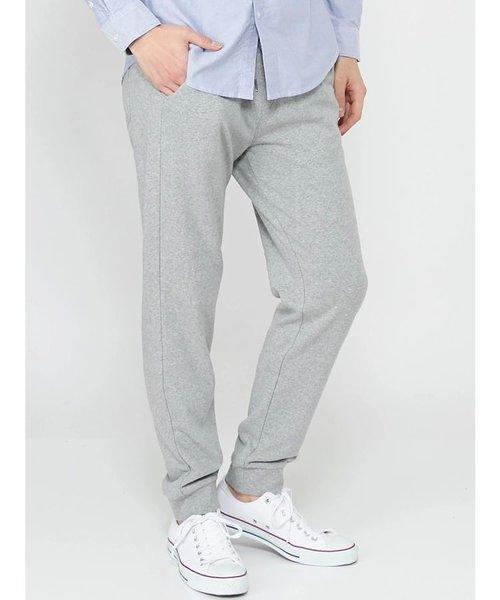 【MEN】TC裏パイル裾リブパンツ