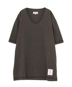 ピグメントVネックTシャツ