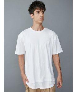 ロングフェイクレイヤードTシャツ