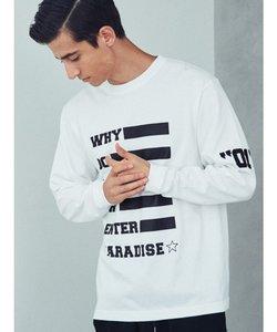 WHYプリントロングスリーブTシャツ