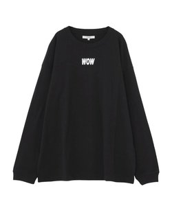 WOWプリント長袖Tシャツ
