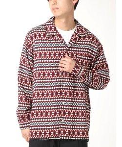 ブロードプリントオープンカラーシャツ