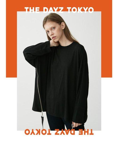 【THE DAYZ TOKYO】ユニセックス サイドファスナーポンチドルマンTシャツ