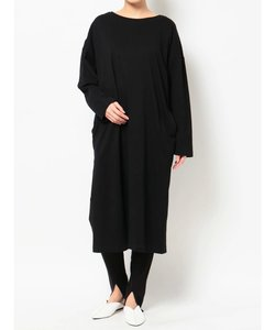 DOUBLE COLLAR LONG SLEEVE T DRESS