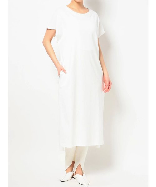 DOUBLE COLLAR FREANCH SLEEVE T DRESS