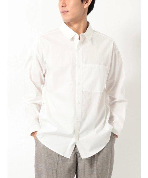 ポプリンパッカリングシャツ