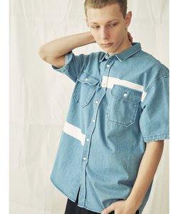 プリント入り半袖シャツ