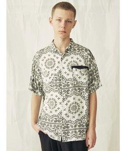 ペイズリー半袖シャツ