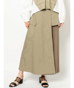 サイドプリーツ切替スカート