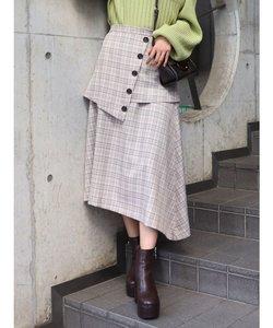 ハイウエストレイヤードスカート