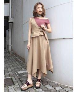 【WEB限定】カバーベルトチノフレアスカート