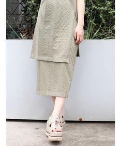 ジャガードIラインスカート
