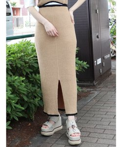 ペンシルニットスカート